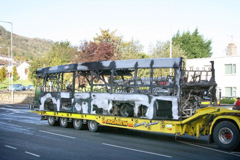 The remains of 485 are recovered by Agnews - Cloughfern Corner - October 2010 - [ Paul Savage ]