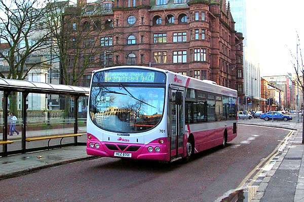 Scania / Wright 701 - Metro livery - Belfast Feb 2005 (Paul Savage)