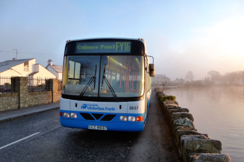 B10BLE 2837 - first journey on FY16 at Culmore - Mar 2014  [ John Durey ]
